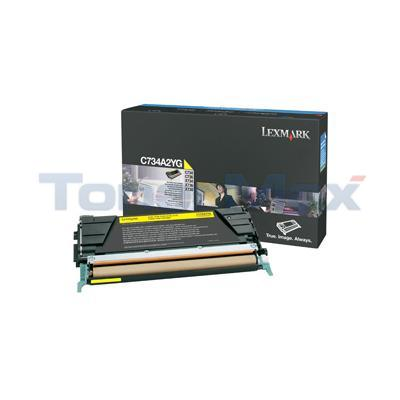LEXMARK C734DN TONER CART YELLOW 6K